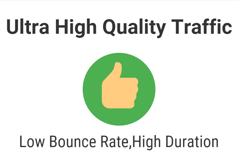 Ultra high quality traffic over one month