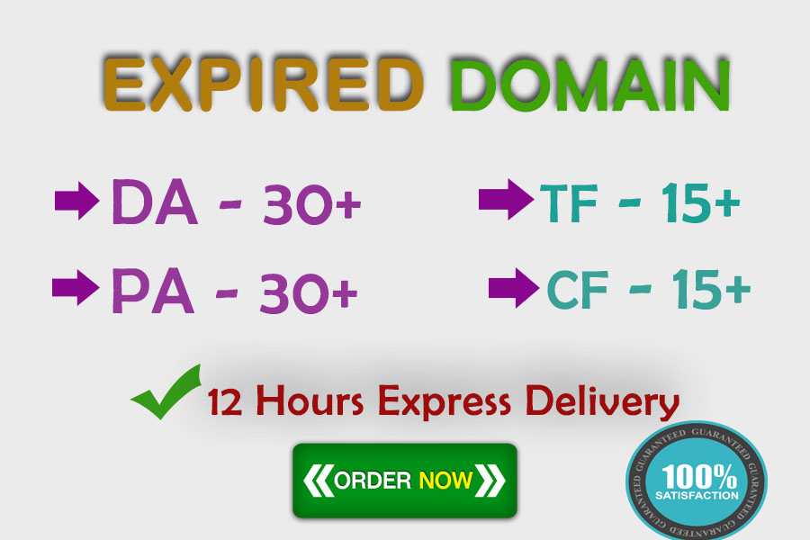 find 5 SEO friendly Expired Domain with High Metrics