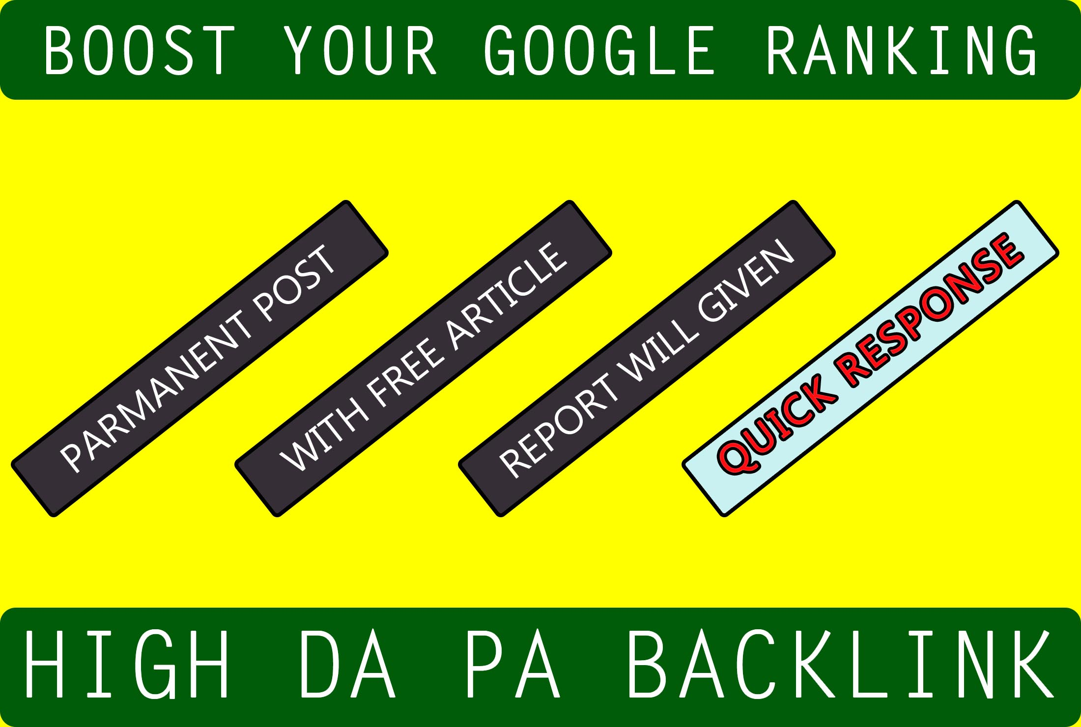 high da 30plus web2 backlinks with article