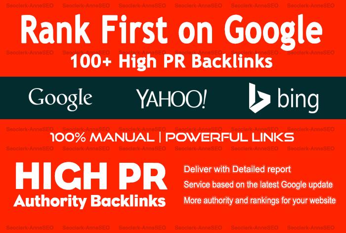 100 Manual SEO High PR Dofollow Backlinks