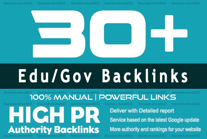 30+ Edu/Gov High Quality Backlinks