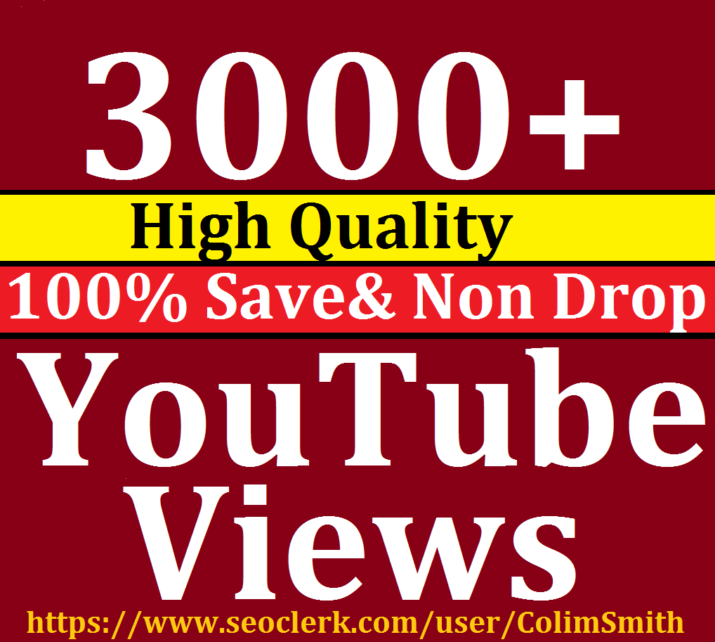 Instant 2000 to 3000 Or 2K to 3K Lifetime Nondrop Viewws 12-24 Hrs Super Fast Speed