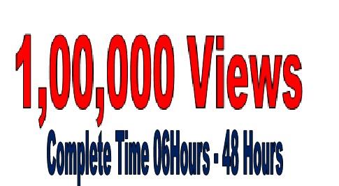 Manage 1,00,000  (100k) V ideo  V iews Increasing Super offer