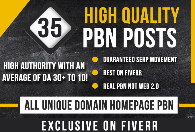 Building 35 High Metrics Pbn Posts