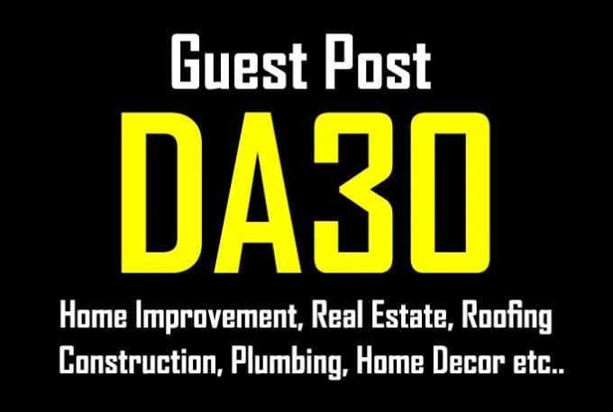 Publish A Guest Post On Da25 Home Improvement, Garden,Real Estate Blog