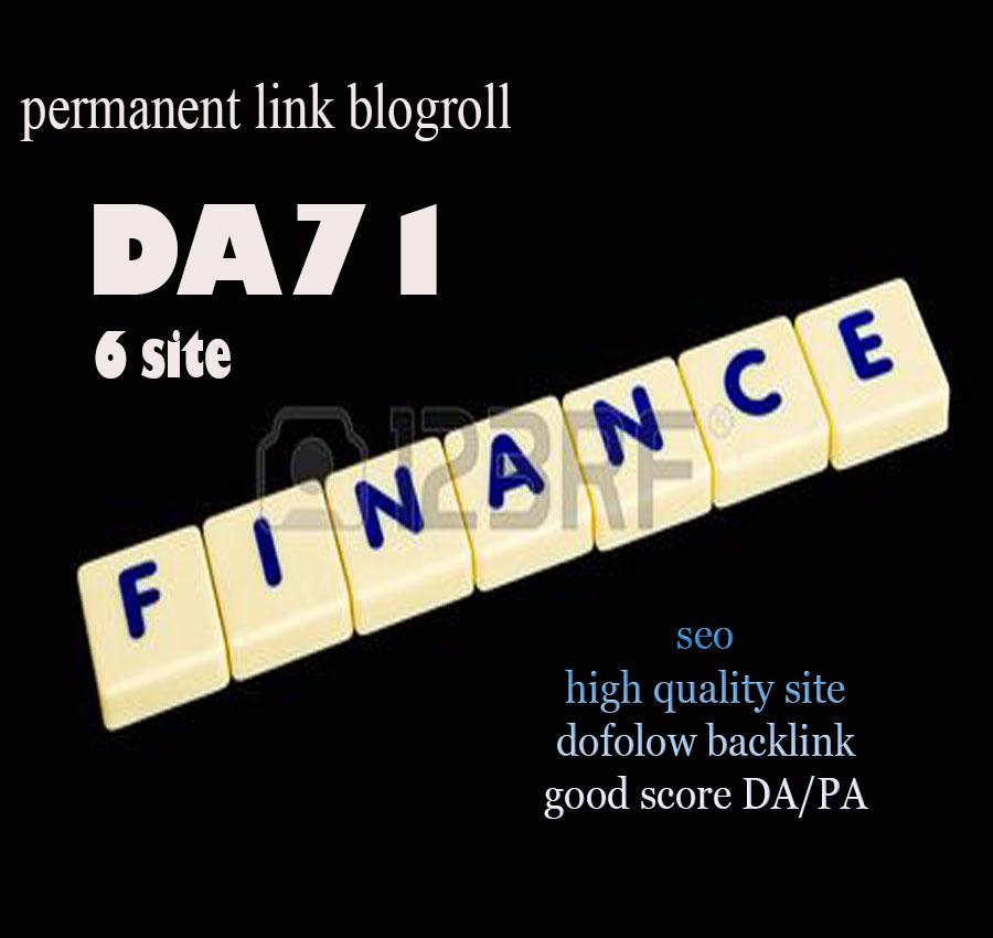 Give Link DA71x6 Finance Site Blogroll Permanent
