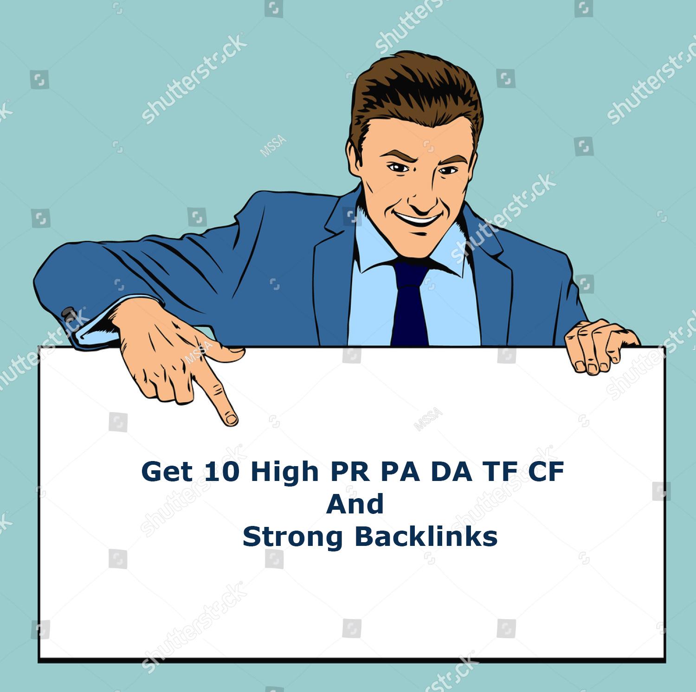 Bust up Your Website Get High PR PA DA TF CF, & Strong Backlinks