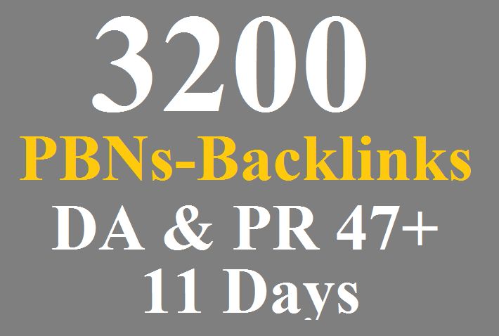 3200 PBNs Permanent Blogs Homepage Backlinks