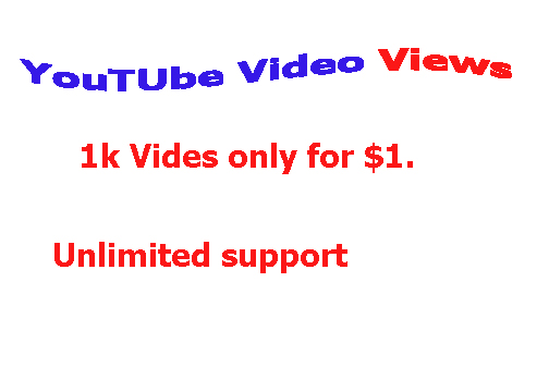 1000 Video Views OR 20 Comments Unlimited Support in 4-6 Hours