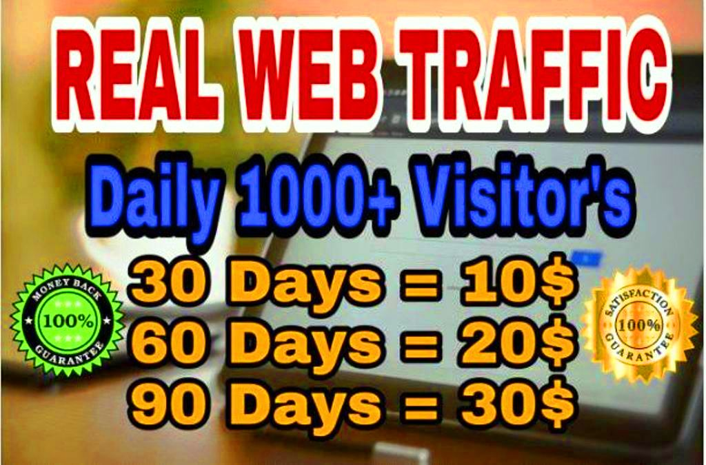 Drive 1000 + + Real Web Traffic Everyday To Your Website