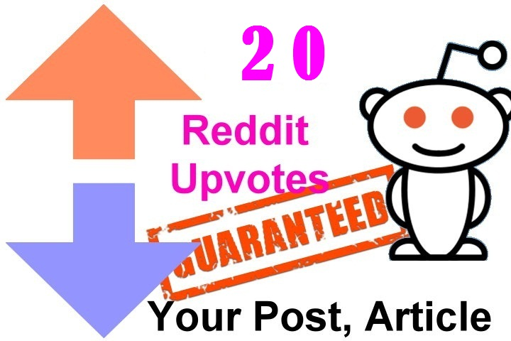 20 reddit upvotes to your reddit post or links or articles