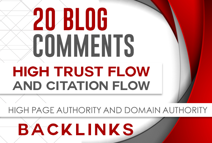 Provide 20 high authority trust flow backlinks