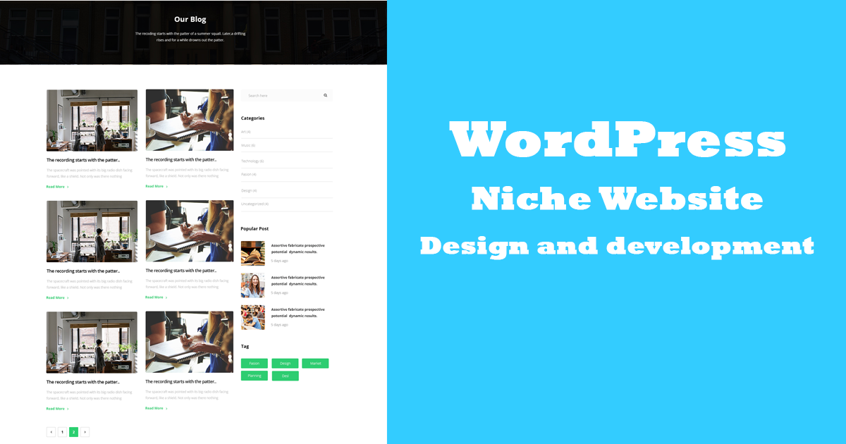 Create WordPress Niche website with Research Keywords