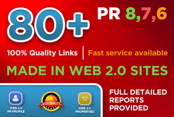 I will do 80 web 2.0 backlink for your website