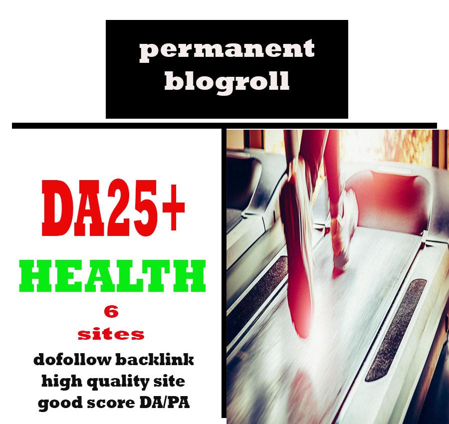 Give Link Da25x6 Site HEALTH Blogroll Permanent