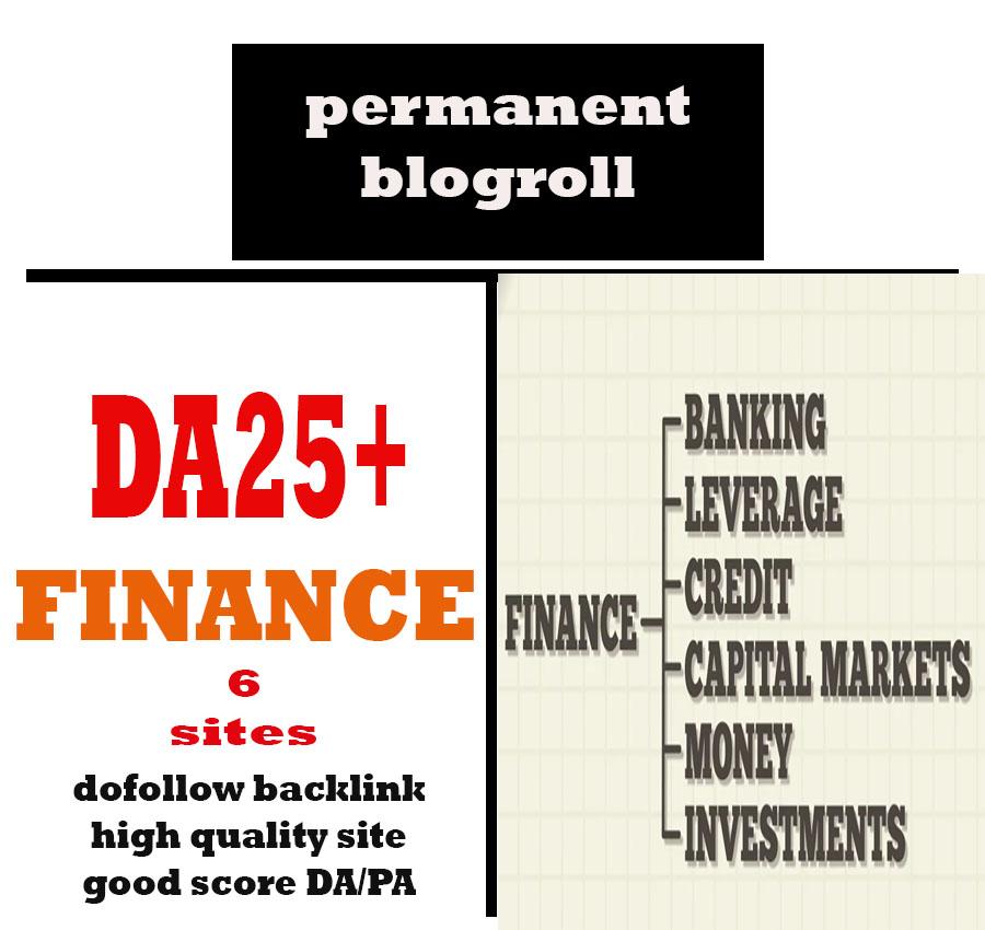Give Link Da25x6 Site FINANCE Blogroll Permanent