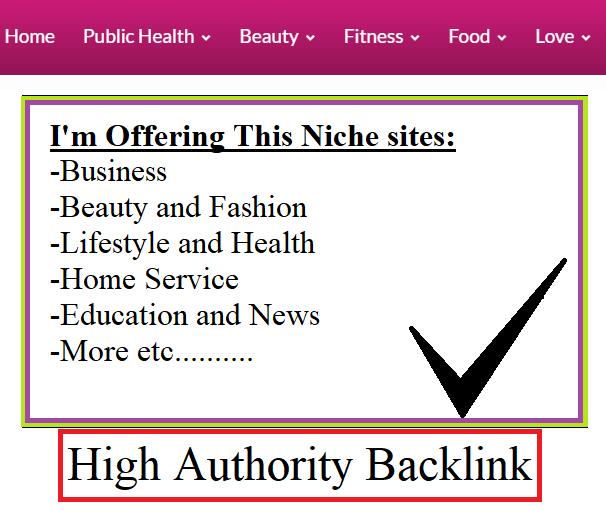 Publish a guest post on My Health DA25 High Authority Backlink Blogs