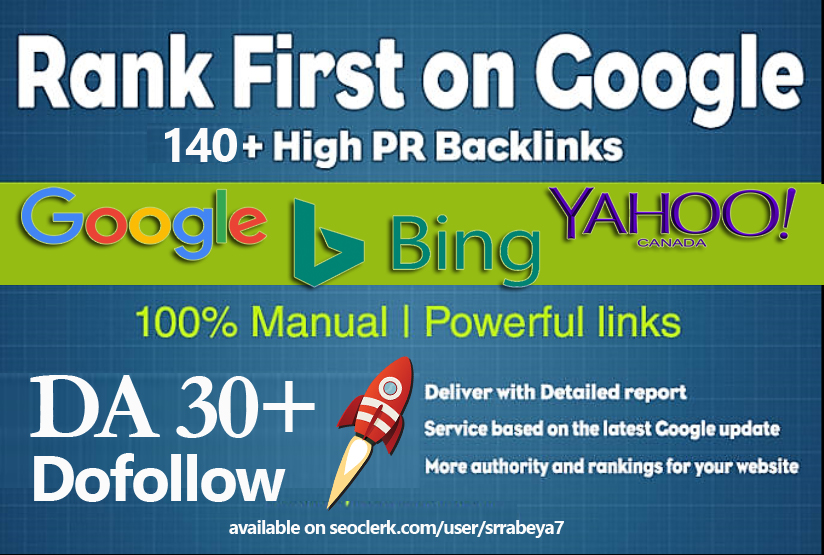 140+ Do-follow High Quality SEO Backlinks for website Ranking on search engine