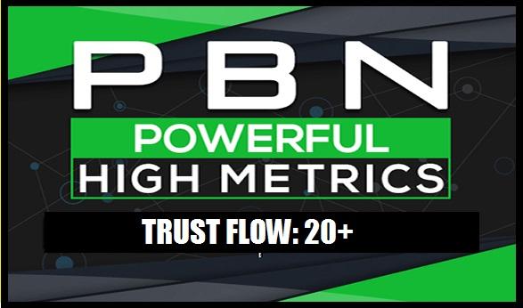 10 Do Follow TF CF 20+ PBN Backlinks