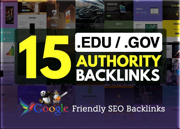 15 .EDU / .GOV High Authority Backlinks