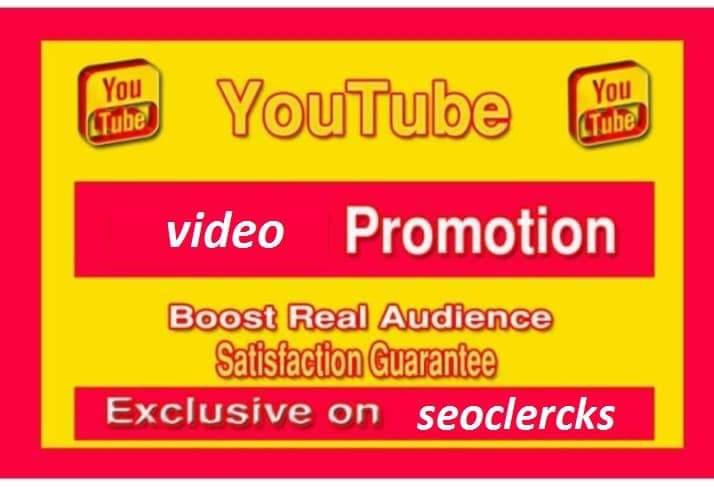 Organic YouTube video promotion social media