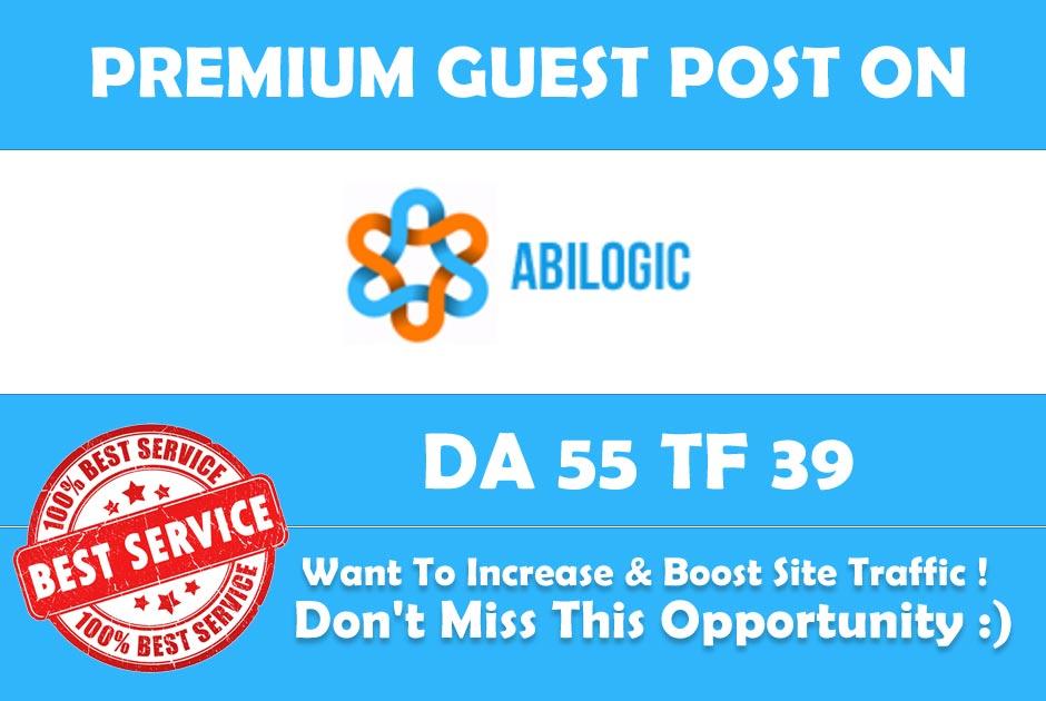 Publish Guest Post on Abilogic DA 55 - Premium Dofollow Backlink