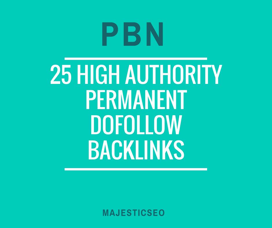 25 High Authority Permanent Dofollow Backlinks