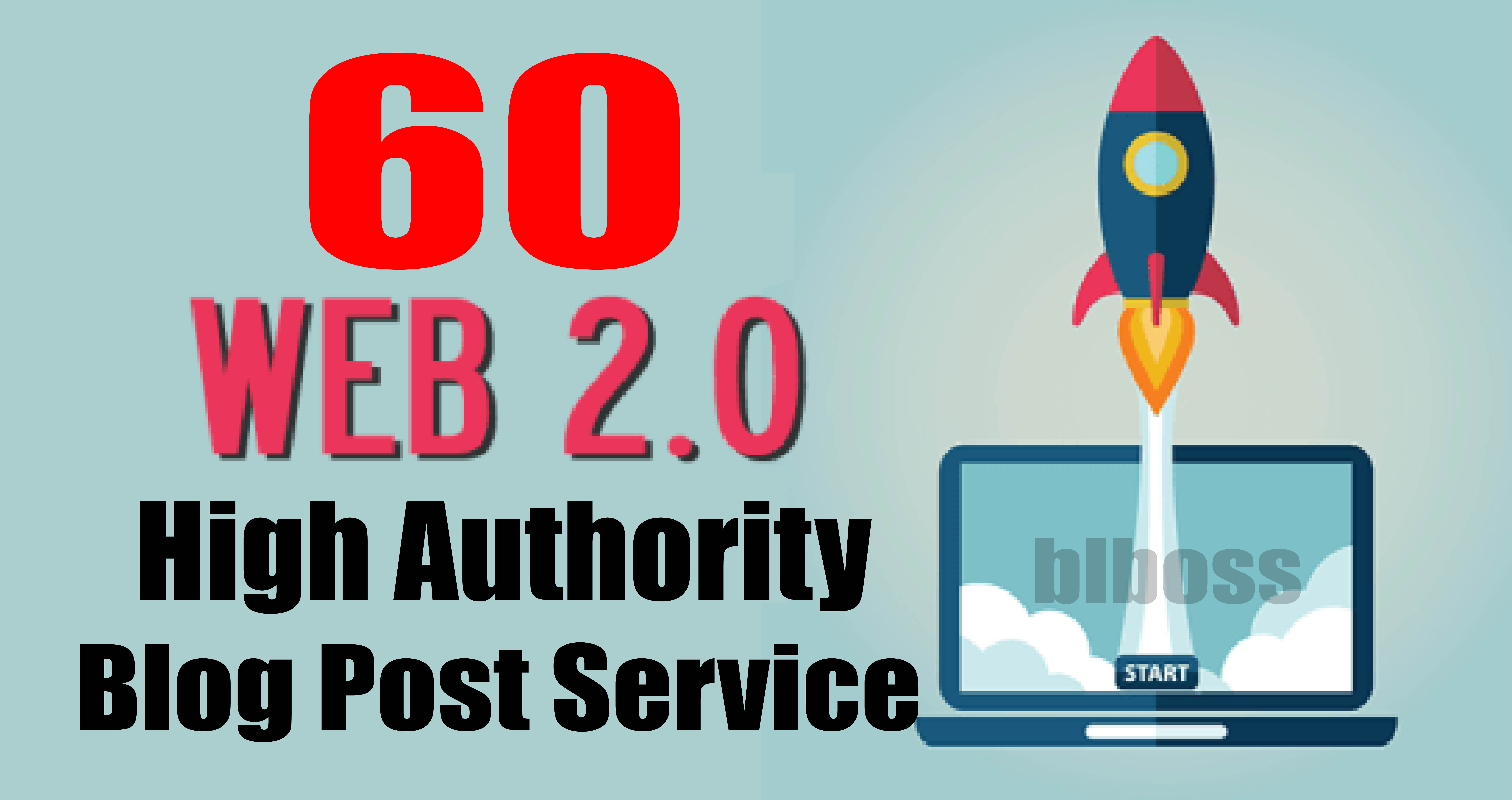 Manually Do 60 Web2.0 Blog Post DR 50 to 70 Authority Blogs
