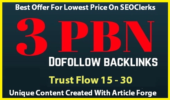 Buy STRONG PBN Links with Trust Flow 20+