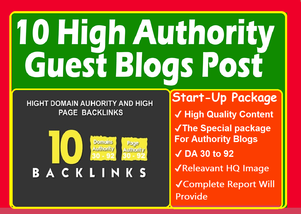 Write And Publish 10 MANUAL High DA-95, PA-90, PR-9 Guest Post