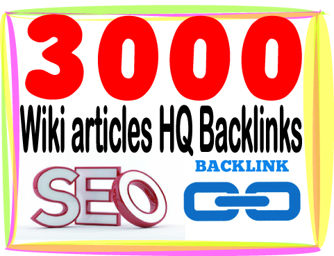 Rank On Google with 3000 Wiki articles Backlinks