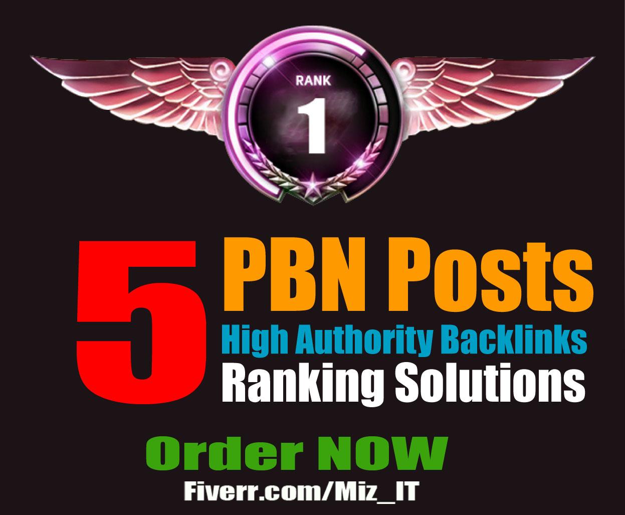 PREMIUM NETWORK 2018 5 High Authority PBN - DA upto 30+ TF upto 30+