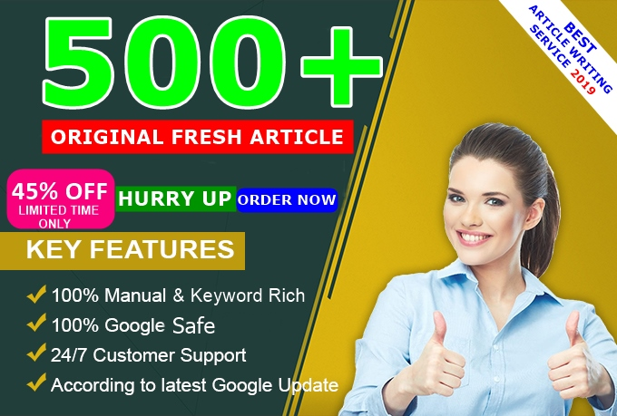 PROFESSIONAL Article Writing Write Fresh ORIGINAL SEO Updated 400 - 800 Optimized QUALITY ARTICLE For Blog Post