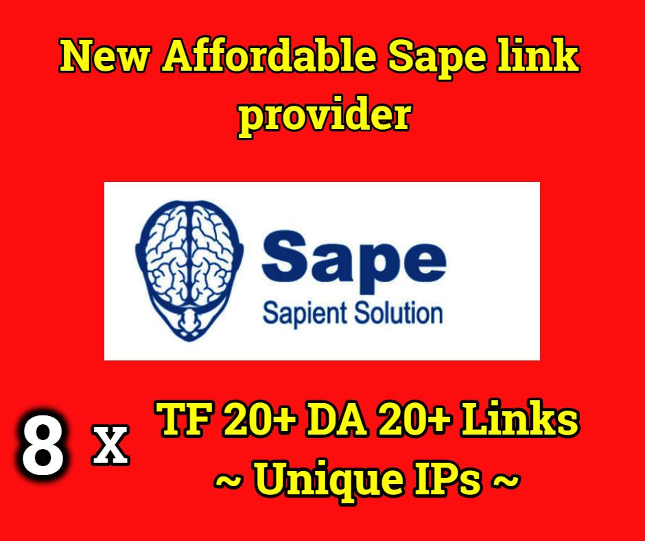 POWERFUL 8x TF 20+ DA 20+ Spam ZERO Sape Links