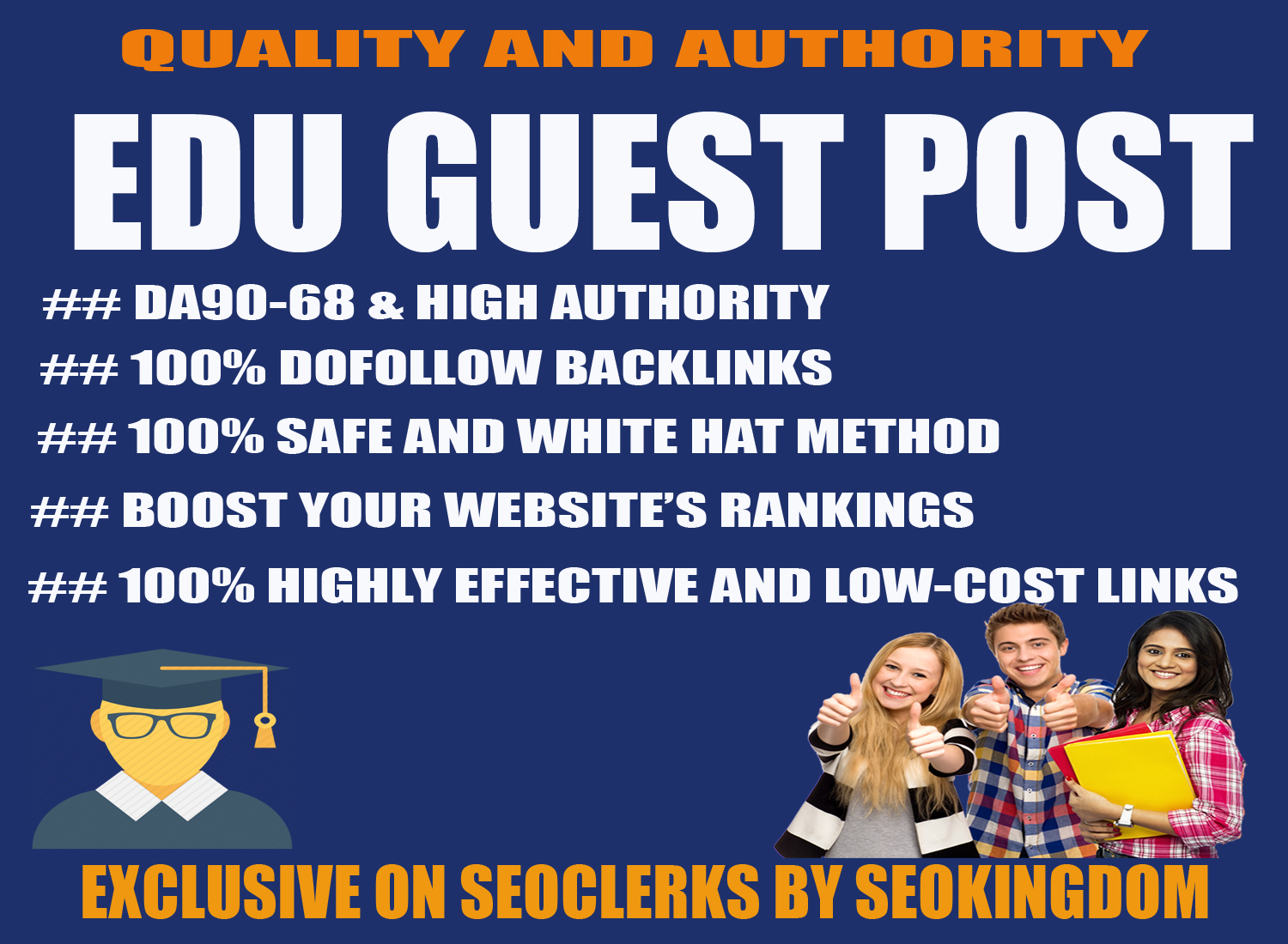 Publish 5 Articles on High Authority Edu Guest post with dofollow seo backlinks