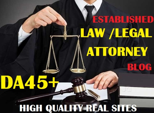 Live Guest Post On Quality Law DA45+ Blog