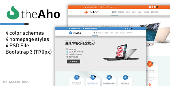 theAho Creative Style Business Portfolio Template