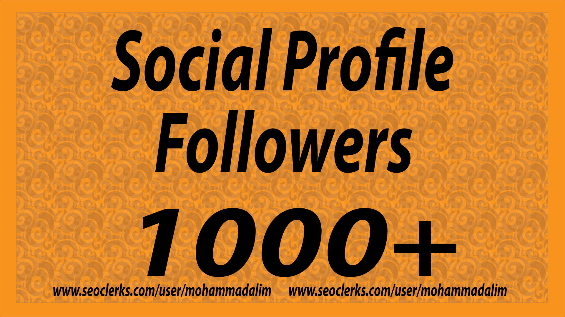 High Quality 1000+ Social Media Profile Followers with Fast Delivery