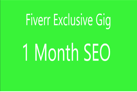 do 1 month SEO for your website or blog