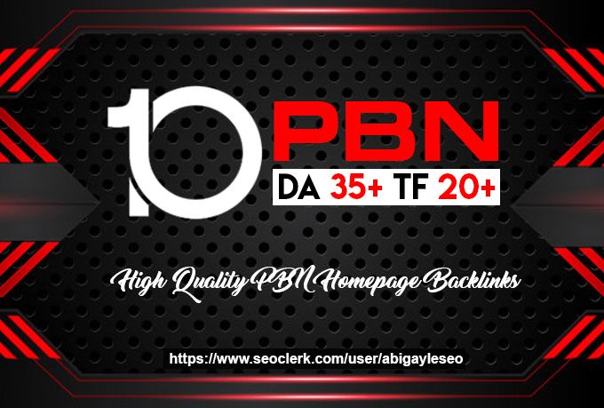 Make 10 Permanent High DA PA Contextual PBN Backlinks