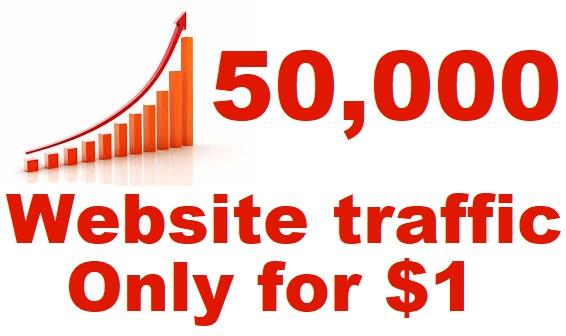 50,000 website traffic real