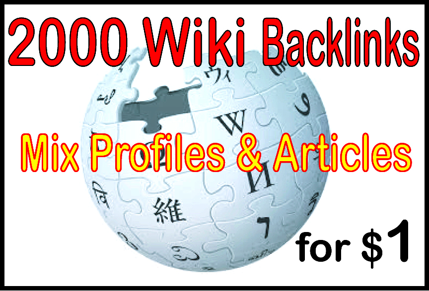 I will do 3500 Wiki Article Backlink from High Authority Site