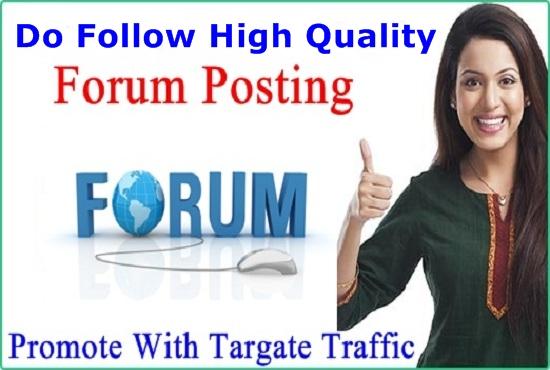 Provide 100 Do Follow  High Quality Forum Posting