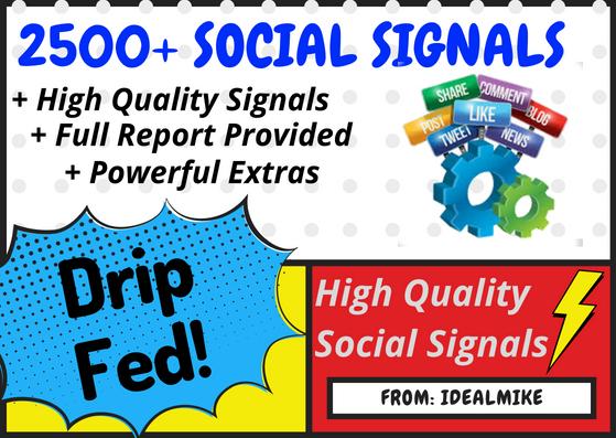 2500+ Super SEO Social Signals Bookmarks Backlinks Powerful Ranking Factors