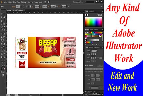 design adobe illustrator work