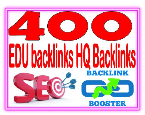 Create 400 EDU Highly Authorized Google Dominating Backlinks
