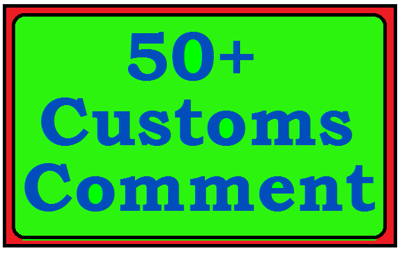 Wonder full 120 + Y,ou-Tobe Customs Comment 5-10 Hours Complete
