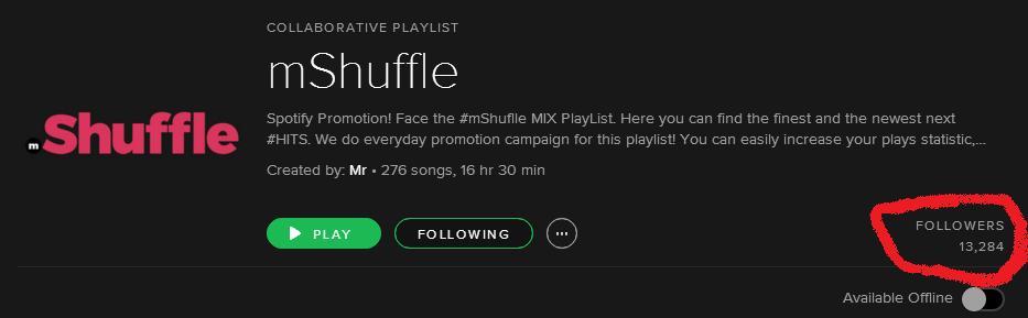 200+ Collaborative Spotify Playlists 86K followers