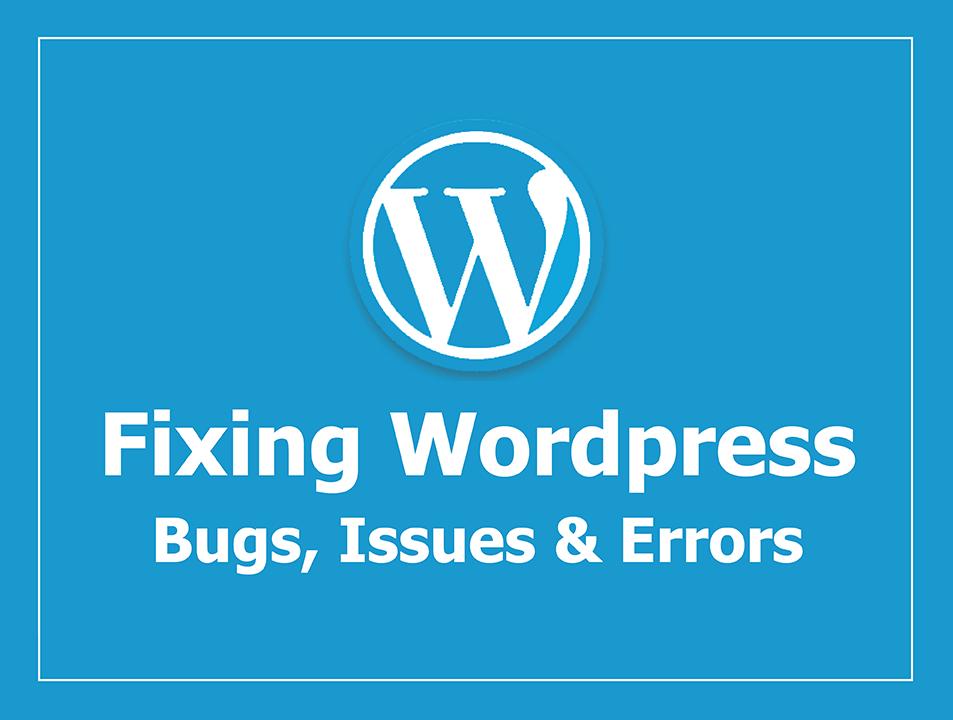 Wordpress issues, bugs, errors fixing