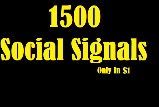 Website Suited 1500 Exclusive Social Signals